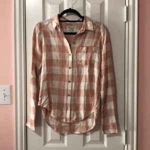 Abercrombie & Fitch Plaid Flannel Button Down
